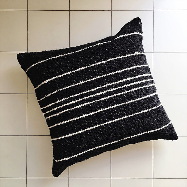 TIRA Stripe Cushion - Charcoal