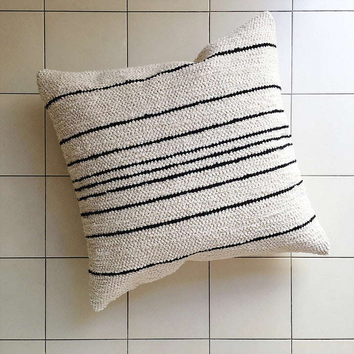 TIRA Stripe Cushion - Cream