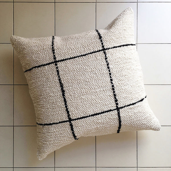 TIRA Grid Cushion - Cream