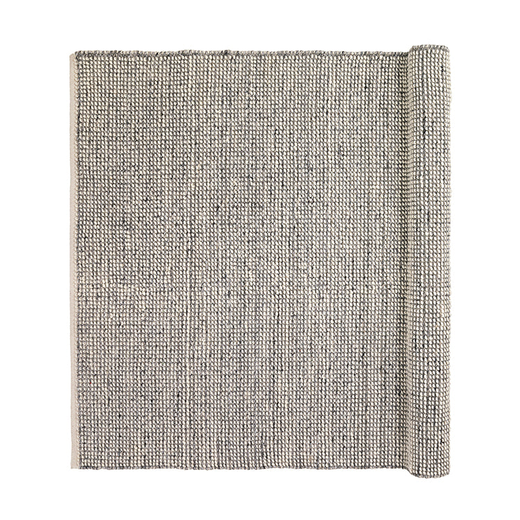 Wool Mix Rug - Grey
