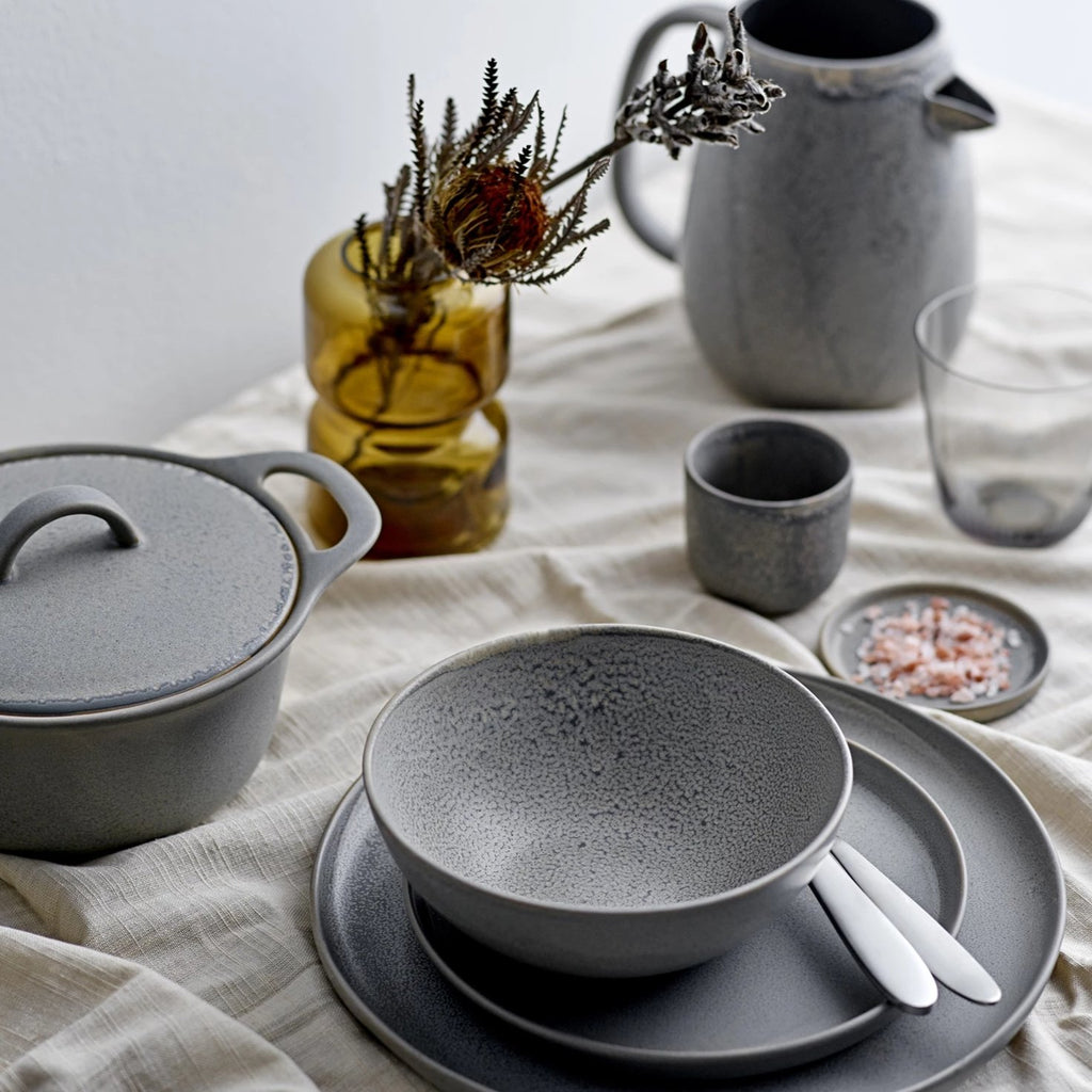 Handcrafted Grey Stoneware Tableware