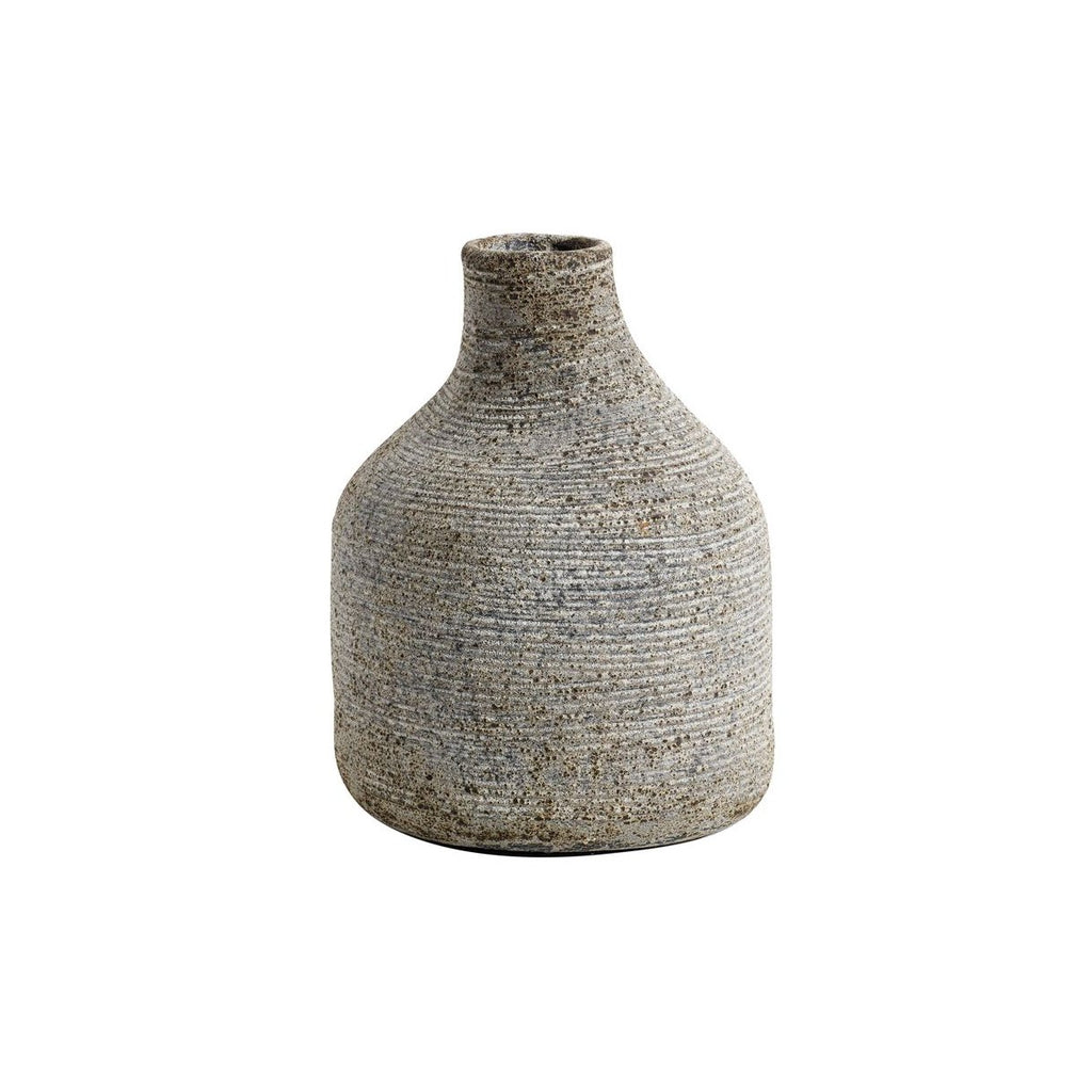 Terracotta Grey Misshaped Vase