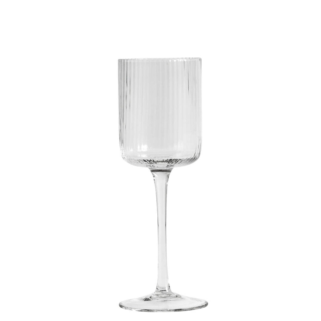 Fluted Clear White Wine Glass