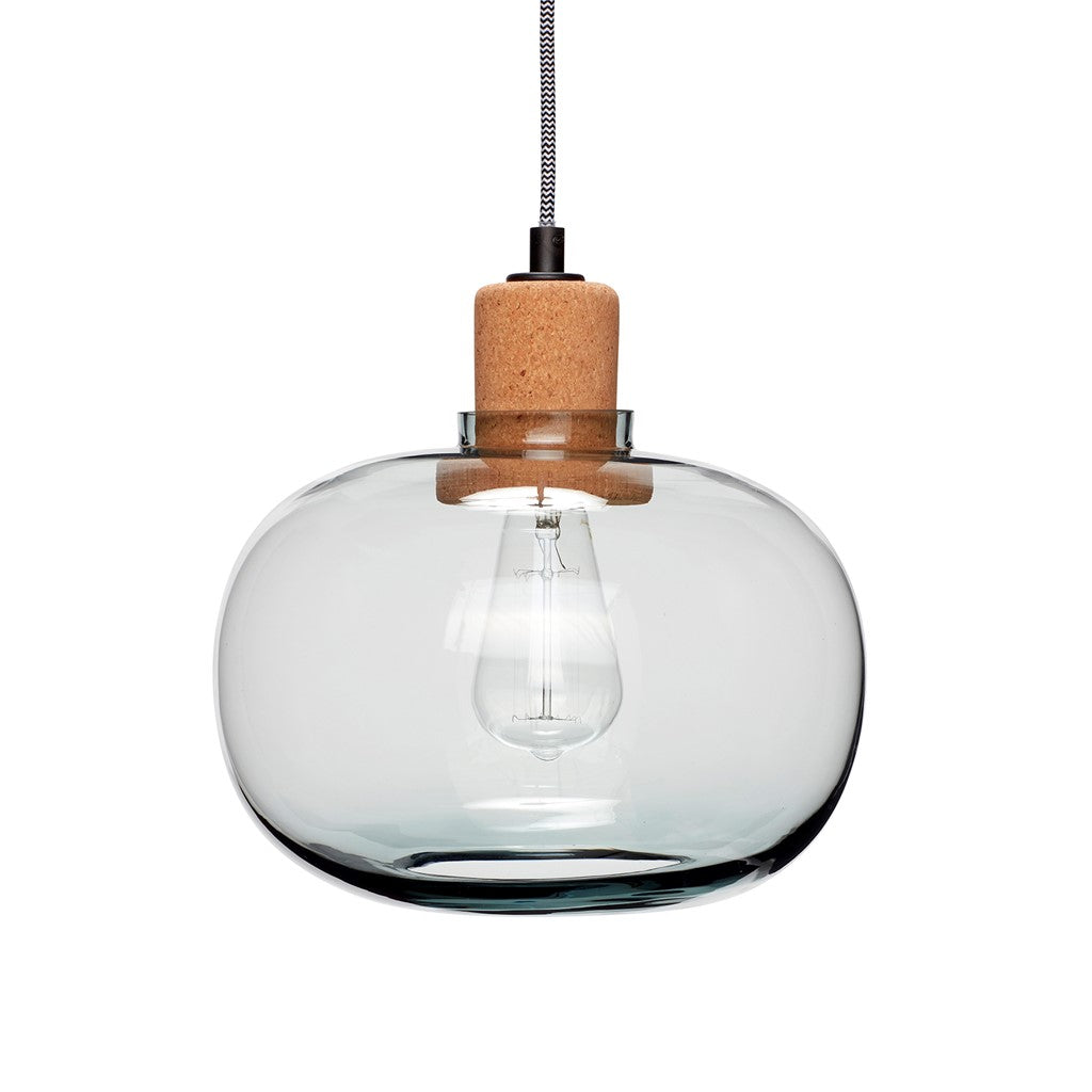Glass and Cork Pendent Lamp