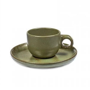 Mottled Green Espresso Cup