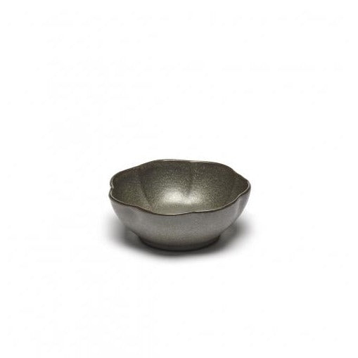 Blossoms Stoneware Bowl - Dark