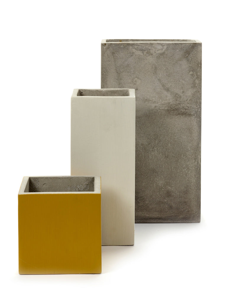Concrete Dusty White Planter