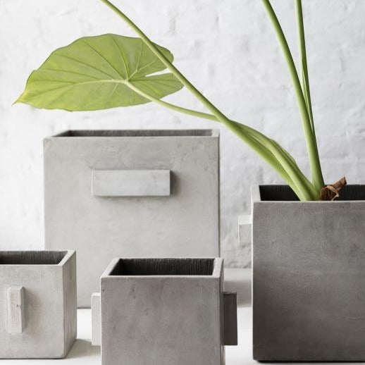 Concrete Square Plant Pot