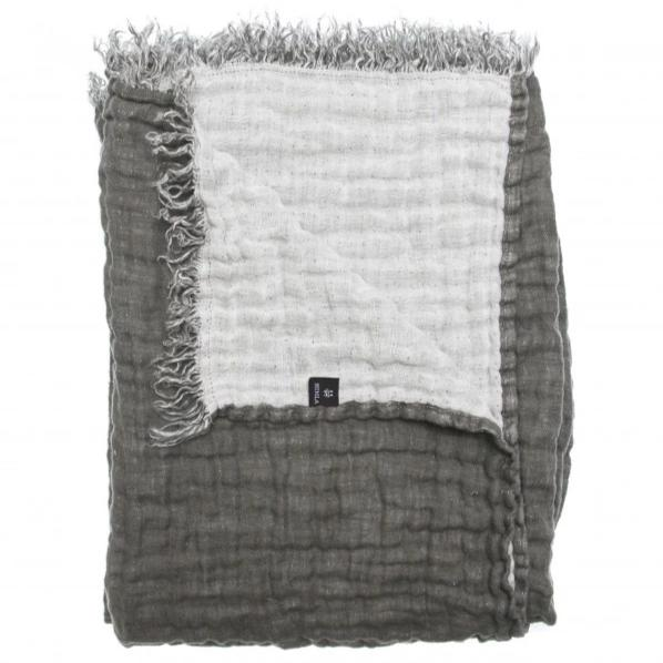 HANNELIN Throw 130x170cm - Charcoal/White