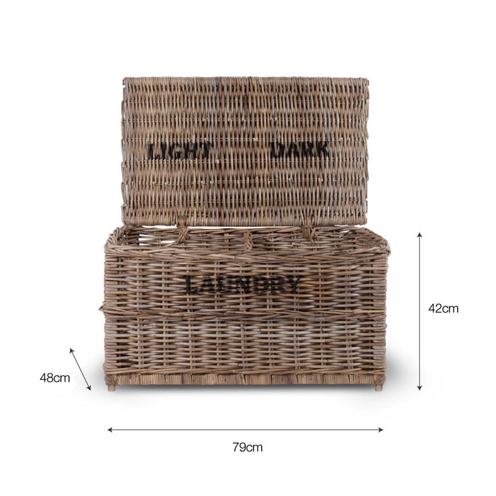 Rattan Laundry Chest