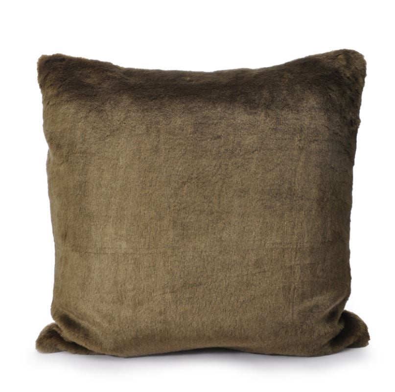 Faux Fur Cushion - Dark Green