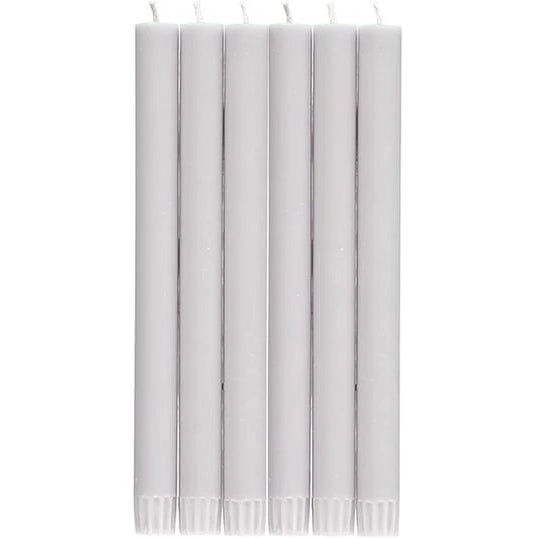Eco Dinner Candles - Pack of 6 Light Grey