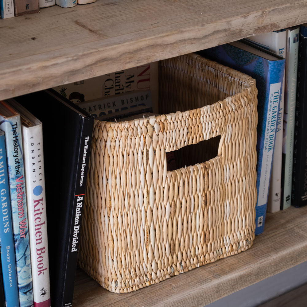 Soft Rolled Palm Leaf Basket with Handles