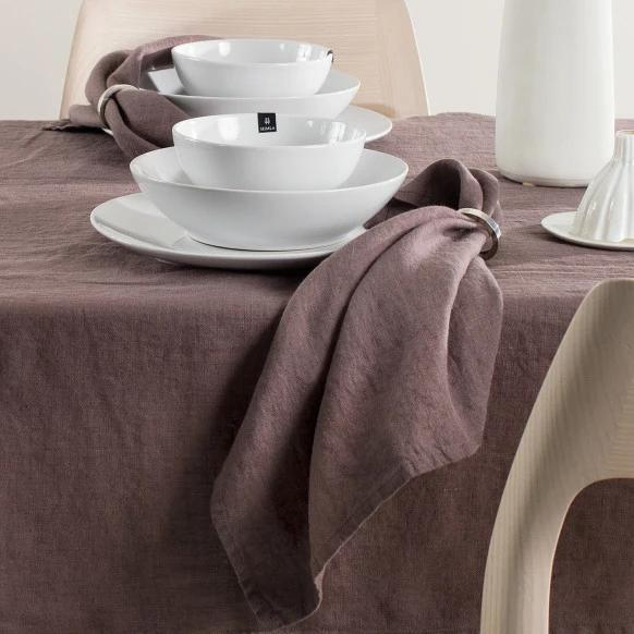 SUNSHINE Linen Napkins - Set of 4 in Mauve