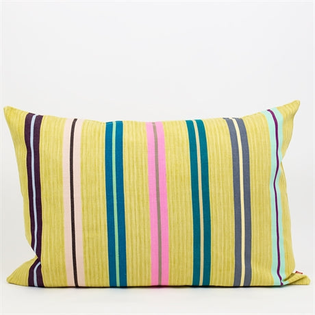 Stripy Cotton Cushion 50x70 -  Yellow