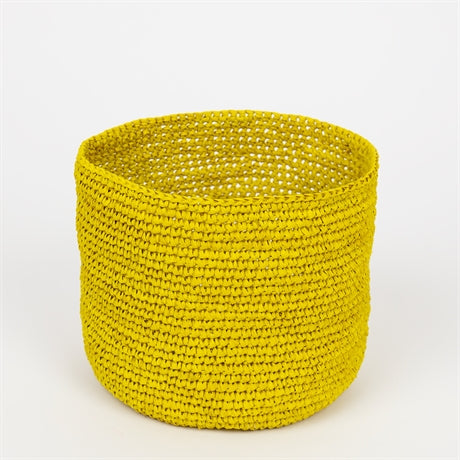 Raffia Basket - Yellow