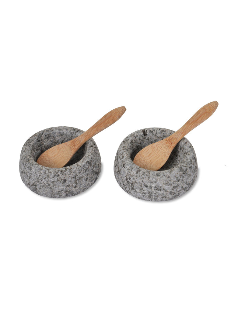 Stone Salt and Pepper Pots