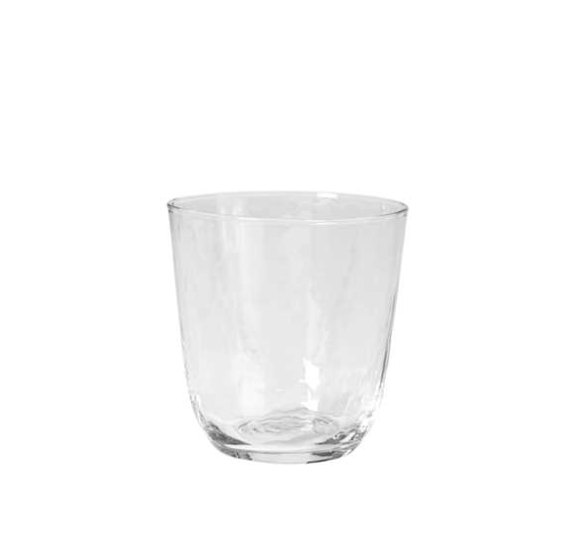Hammered Clear Tumbler