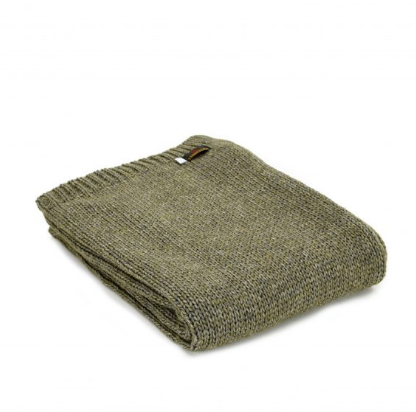 Knitted Alpaca Throw 130x180cm - Green