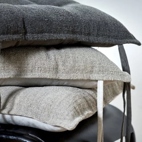 Seat Cushion - Washed Grey & Charcoal