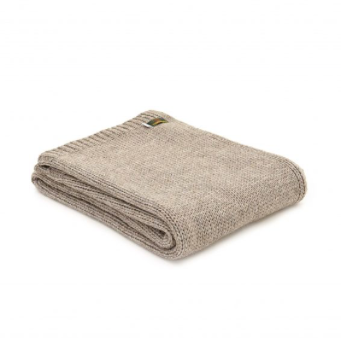 Knitted Alpaca Throw 130x180cm - Natural