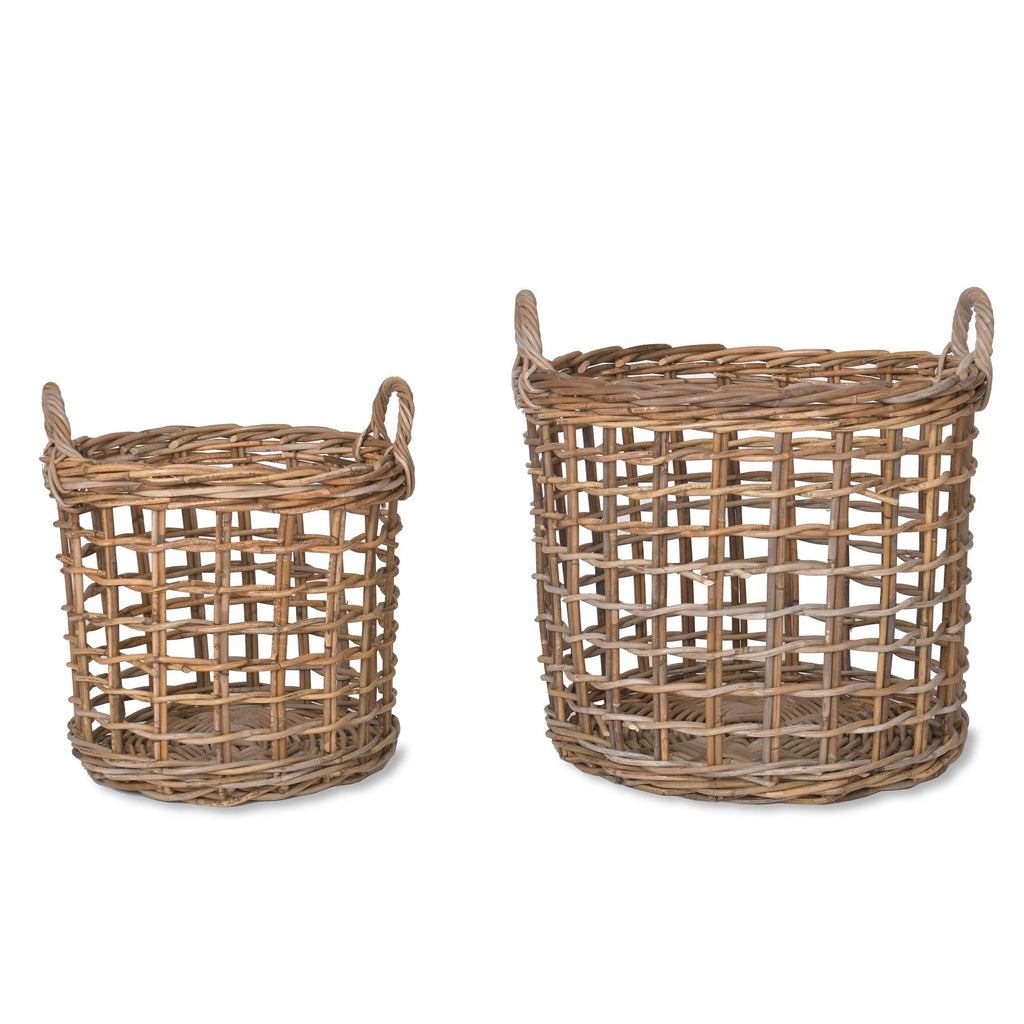Open Weave Rattan Baskets
