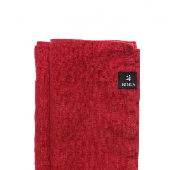 SUNSHINE Linen Napkins - Set of 4 in True Red