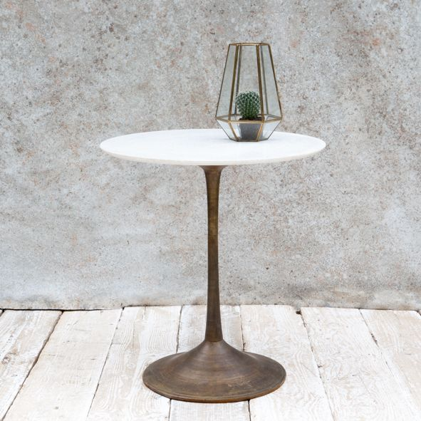Marble and Brass Table