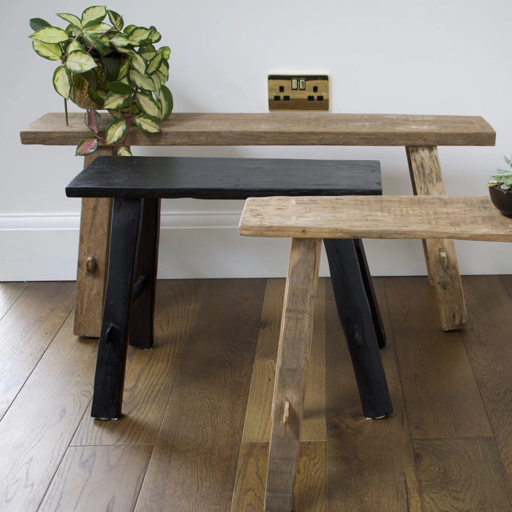 Recycled Wood Antique Bench