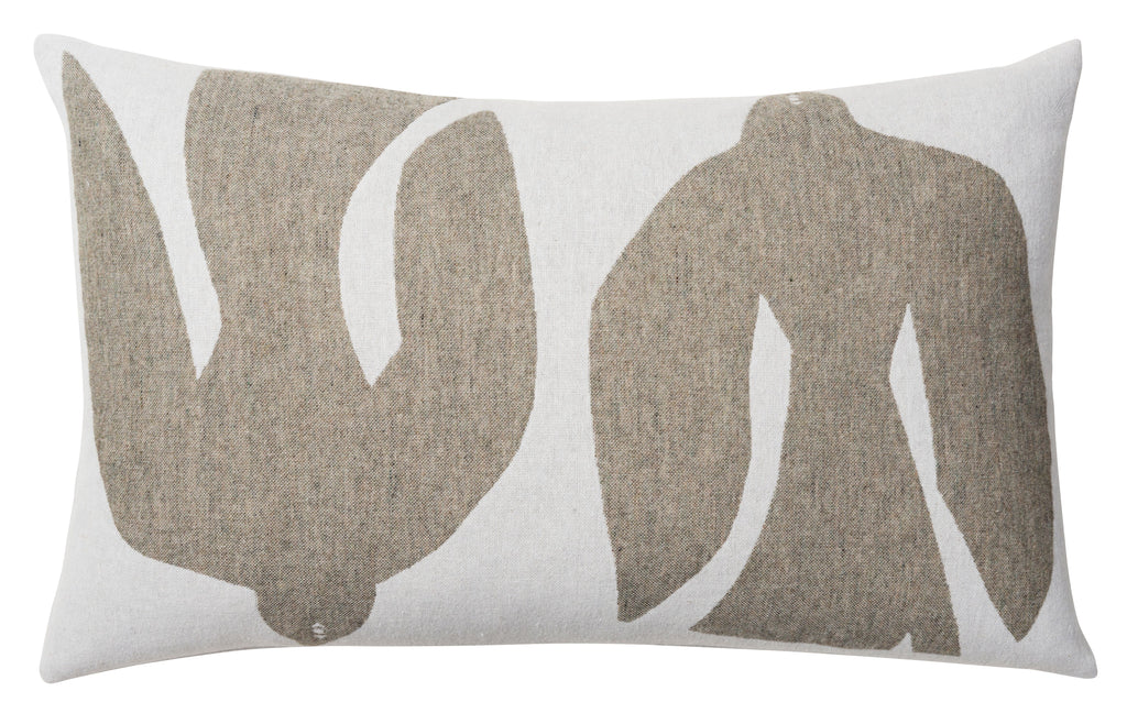 Merino Wool Blend Cushion - Early Bird Olive