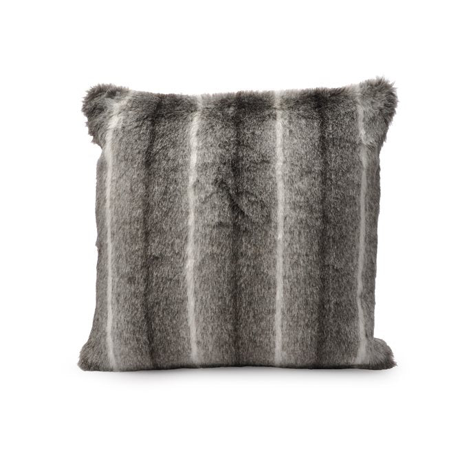 Faux Fur Cushion - Black Spring Deer