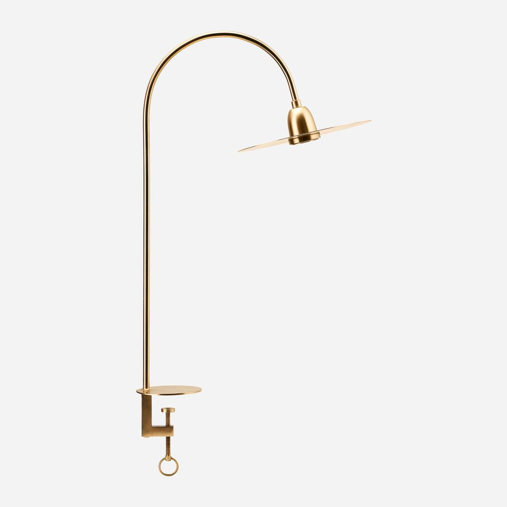 Brass Table Mounted Lamp