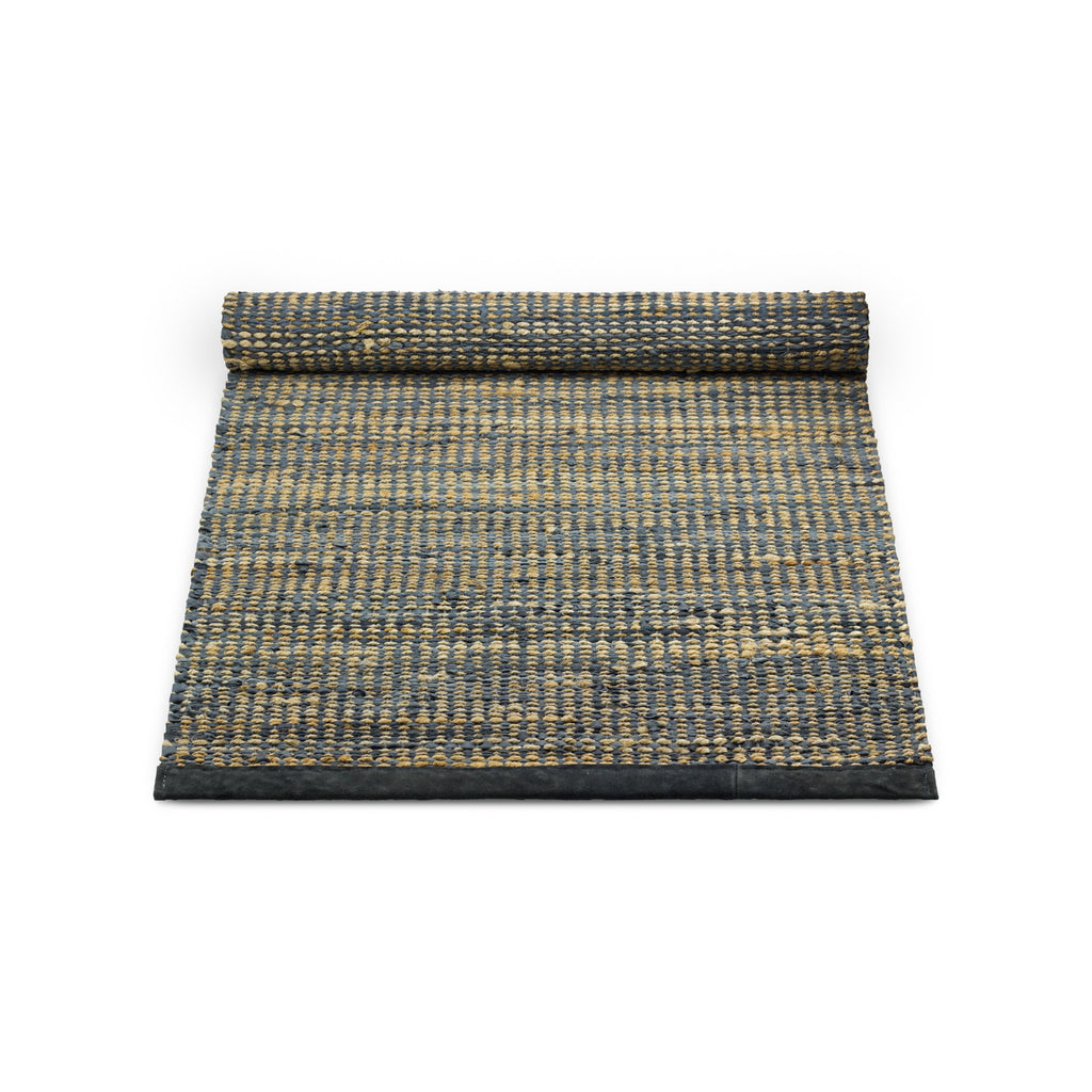 Recycled Leather and Jute Rug