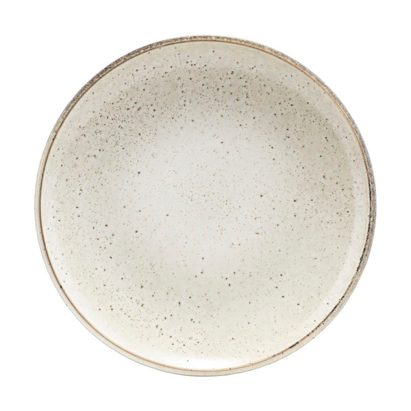 Light Grey Rustic Dinner Plate