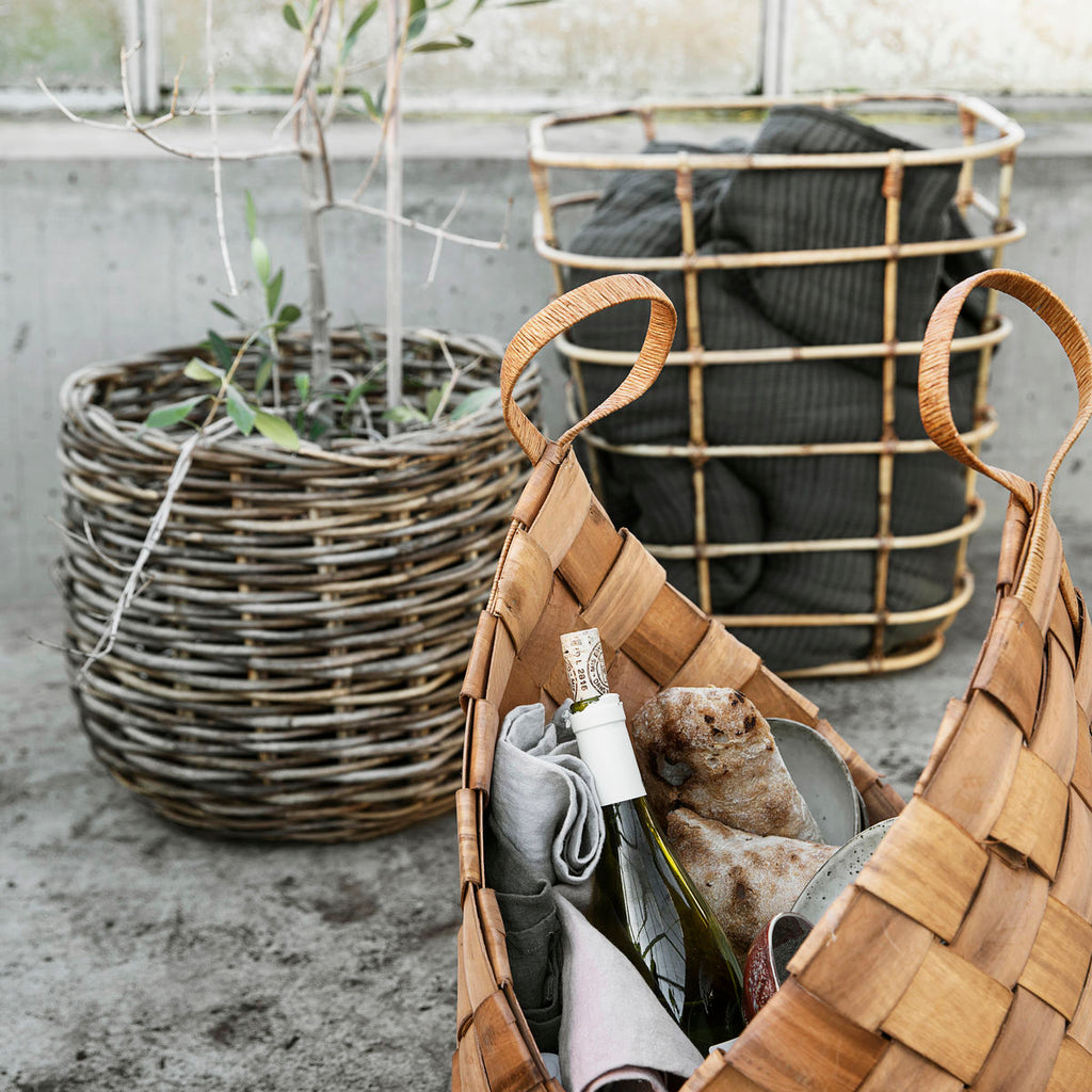 Brown Basket with handle