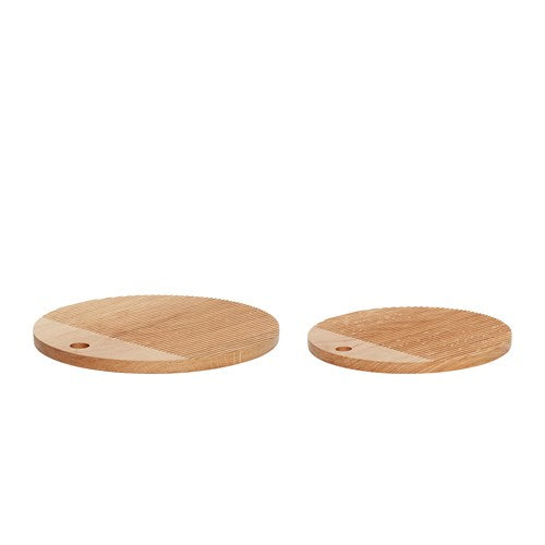 Round Oak Bread Cutting Board