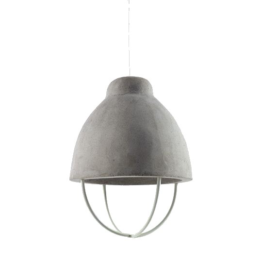 Small Grey Textured Lamp