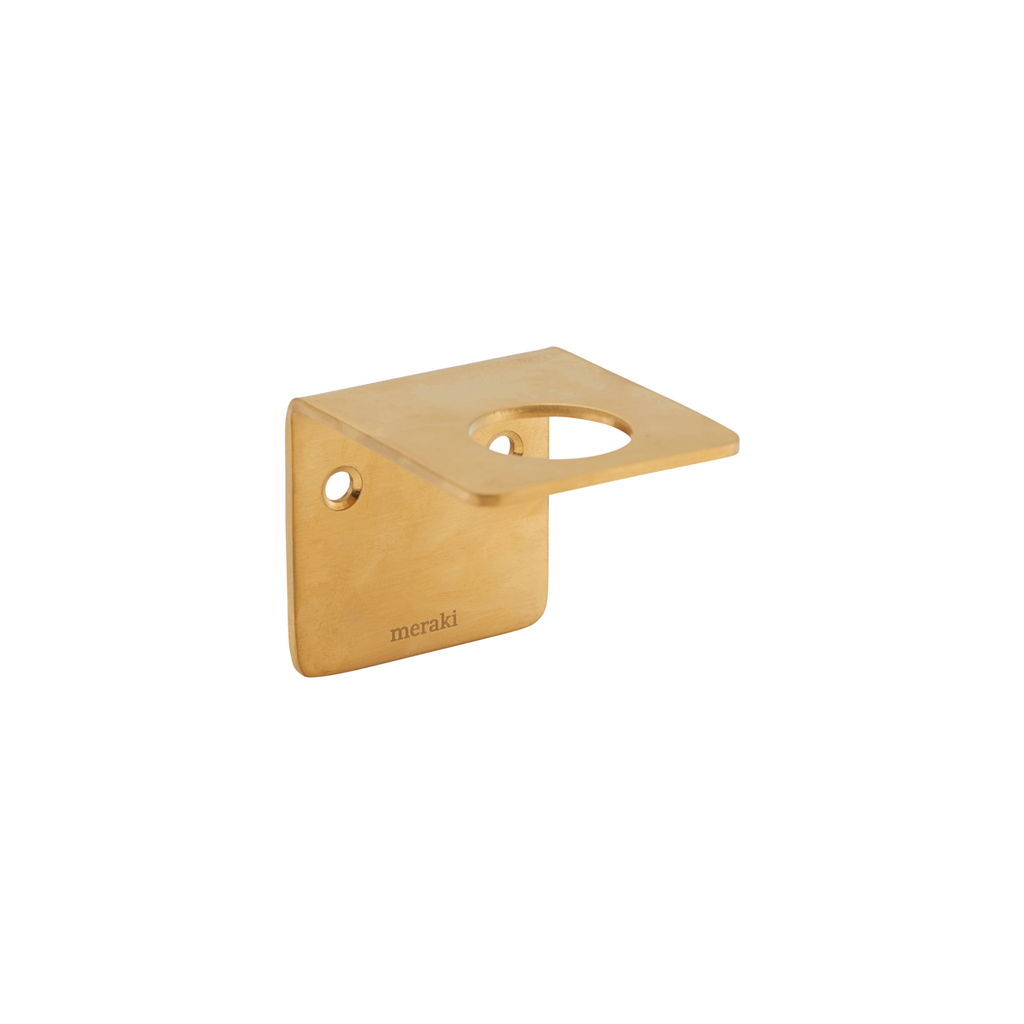Brushed Brass Wall Bracket for Soap Bottle