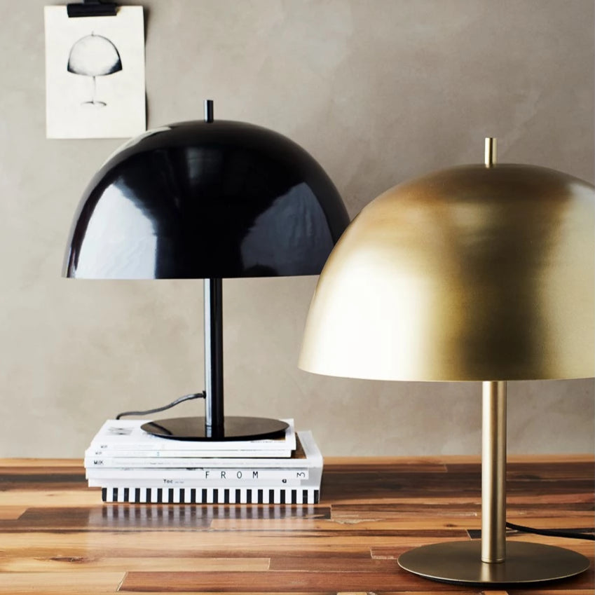 Dome Table Lamp - Antique Brass Finish
