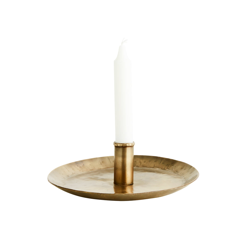 Antique Brass Metal Candle Holder