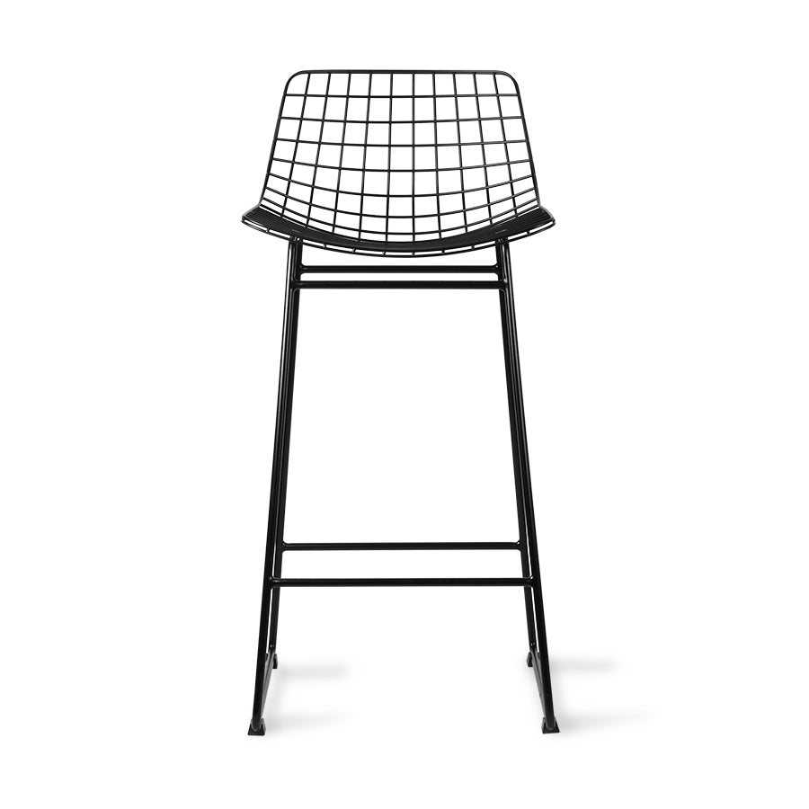 Metal Wire Barstool in Black