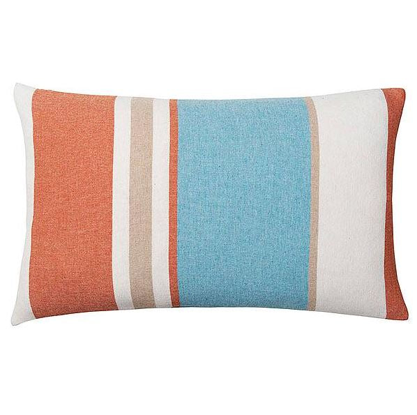 Merino Wool Blend Cushion 40x60 -  Orange/Aqua