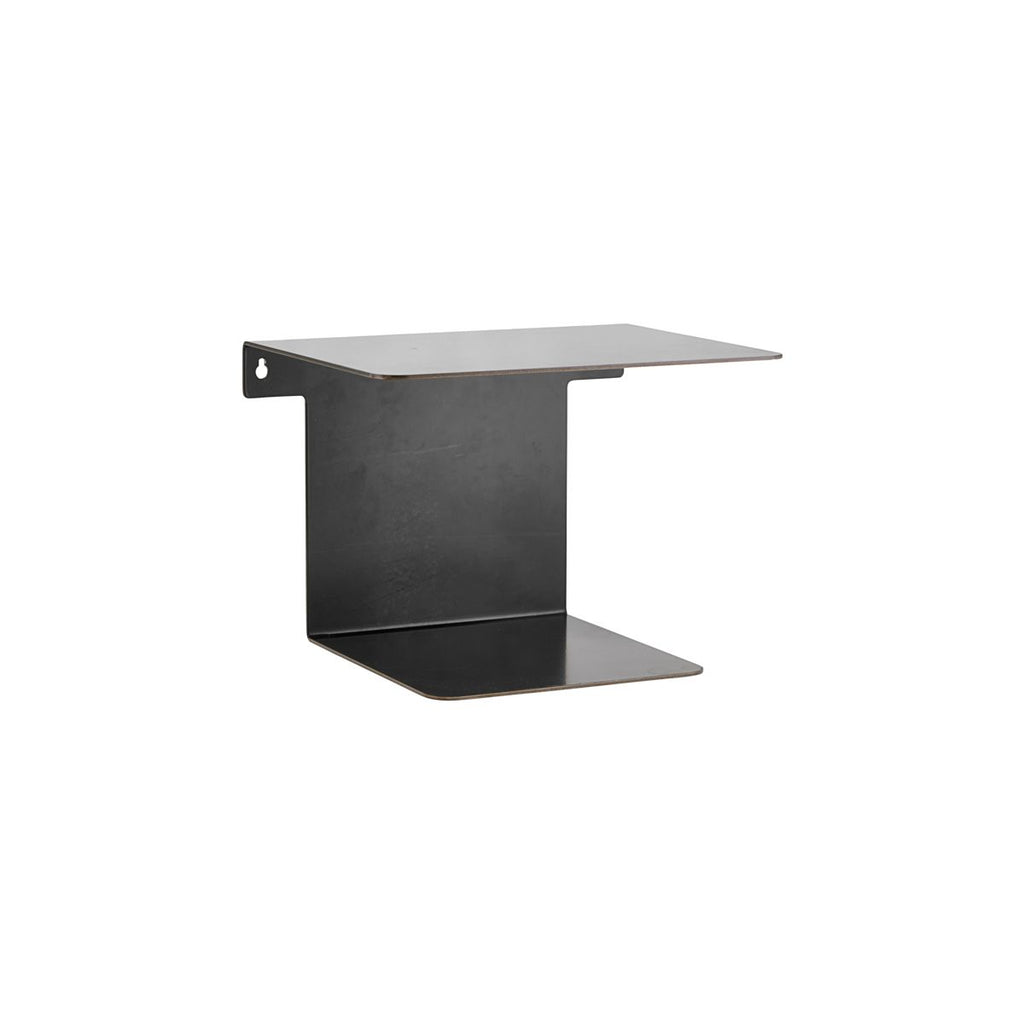 Metal Shelf in Black Antique