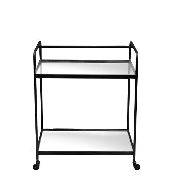 Glass and Metal Drinks Trolley