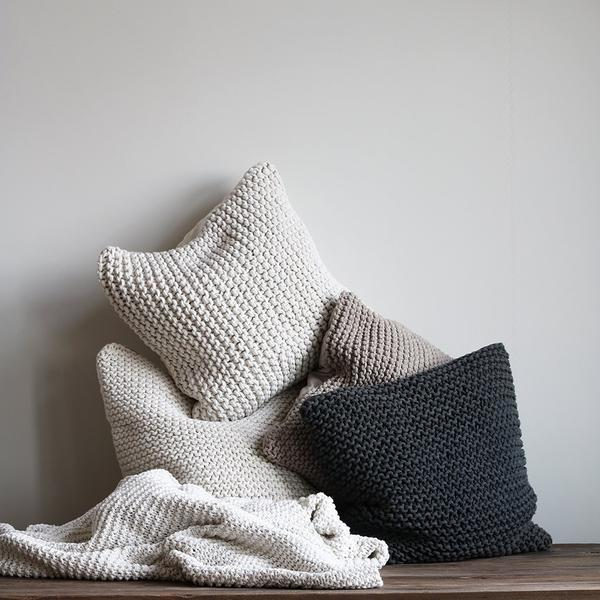 Rope Cushion - Light Grey