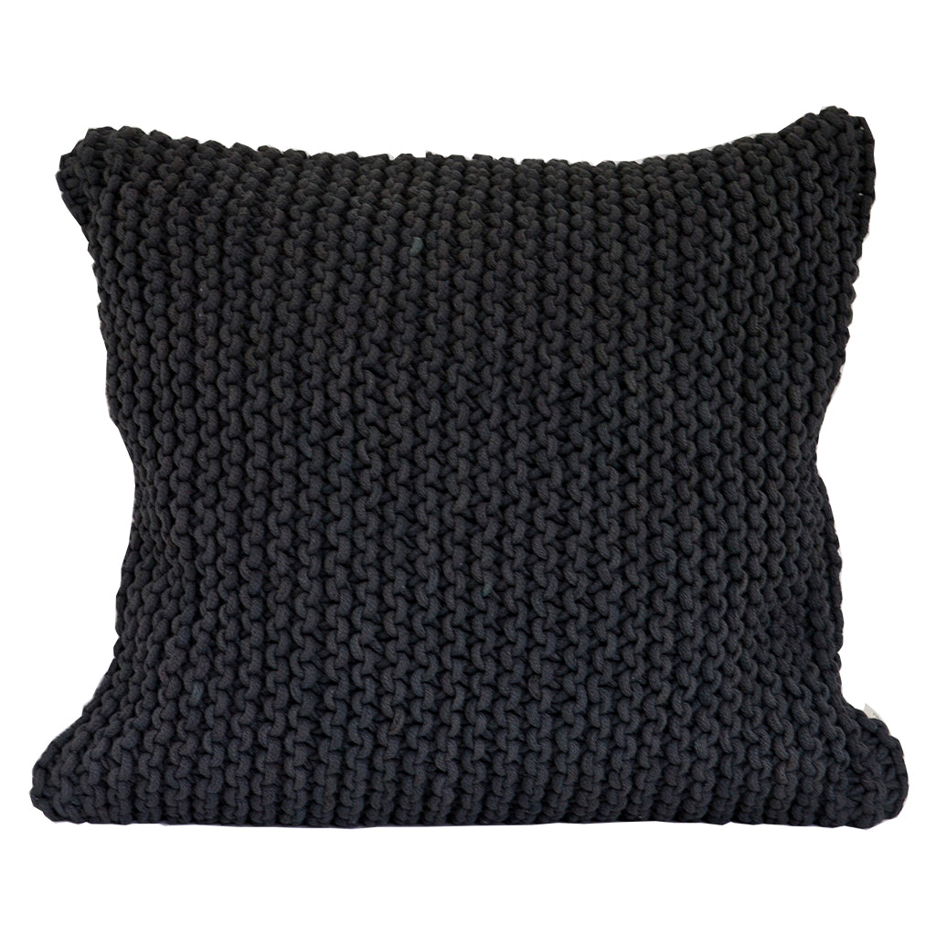 Rope Cushion - Dark Grey
