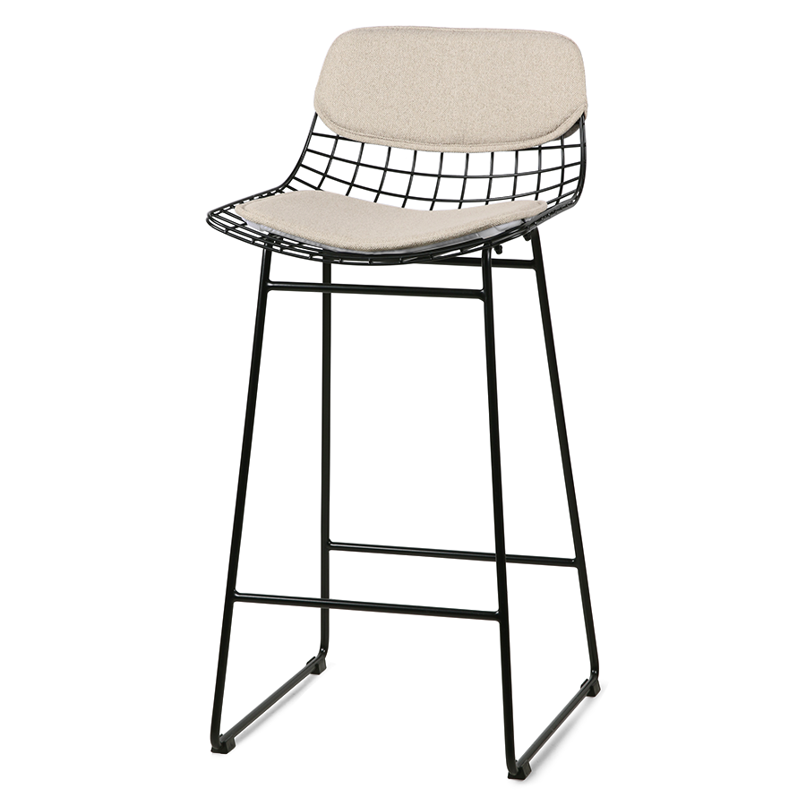 Metal Wire Barstool Comfort Kit in Sand Colour