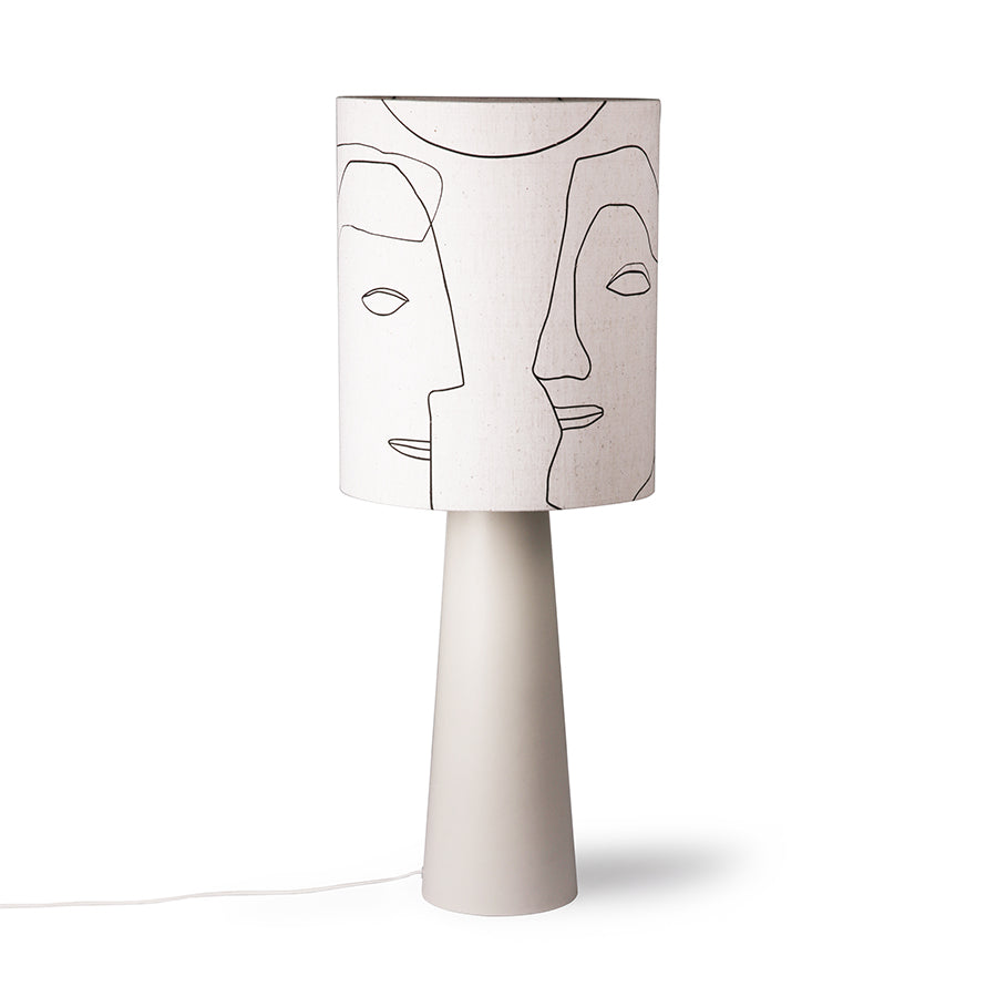 Painted Faces Lamp