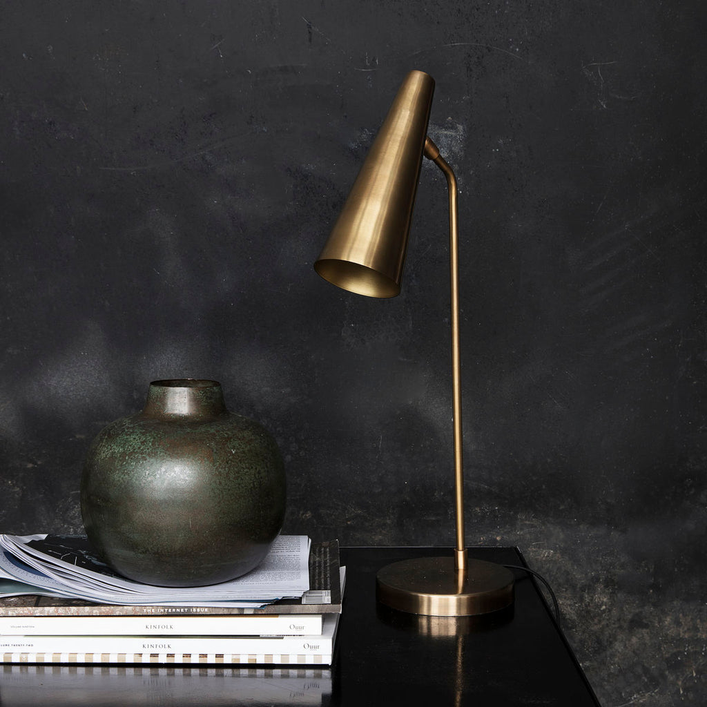 Iron and Brass Table Lamp