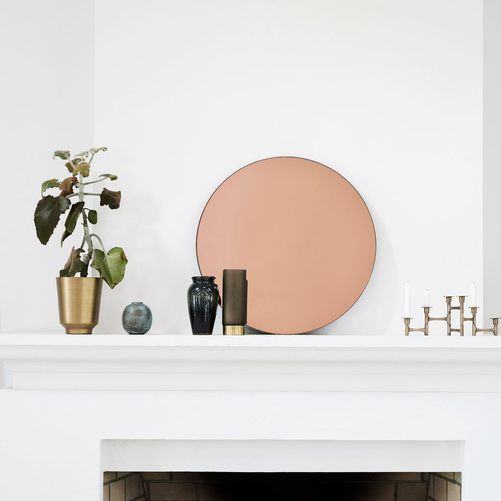 Round Wall Mirror - Rose Gold